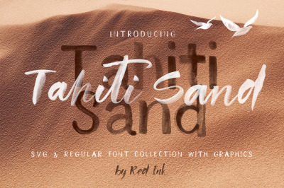 Tahiti Sand. Fonts and Graphics. Sale!!