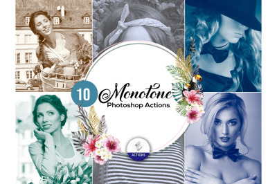 100 Monotone Photoshop Actions