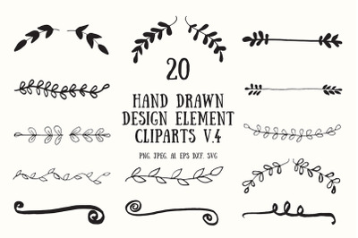 Hand Drawn Design Element Cliparts Ver. 4