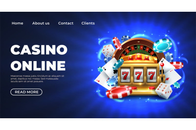 Casino landing page. Gambling roulette website big lucky prize, realis