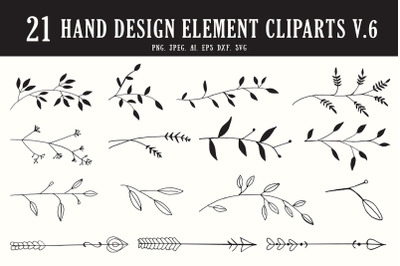 20+ Handmade Design Element Cliparts Ver. 6