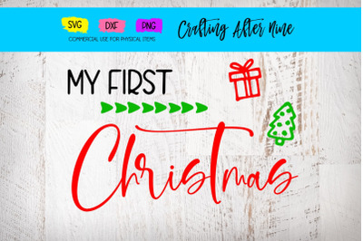 Merry First Christmas, Christmas Sign, Baby's First