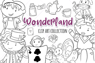 Wonderland Story Book Digital Stamps