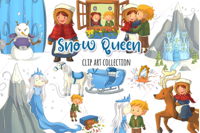 Snow Queen Fairy Tale Clip Art Collection