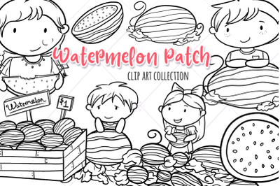 Watermelon Patch Summer Digital Stamps