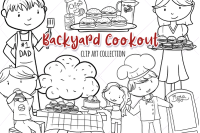 Backyard Cookout BBQ Digital Stamps