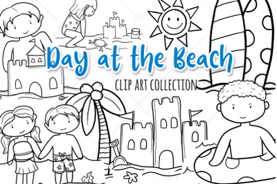 Day at the Beach Digital Stamps