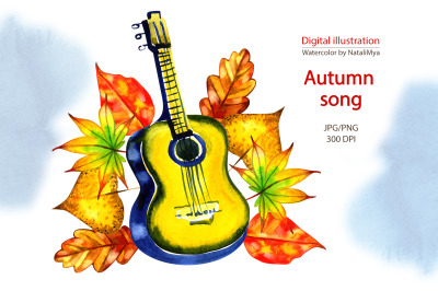 Watercolor autumn song