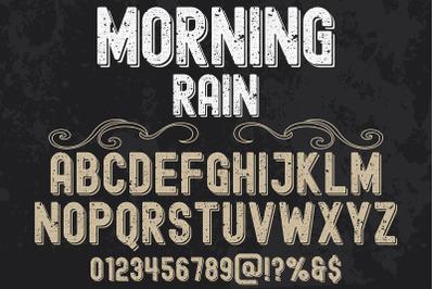 vintage Typeface  vector label design