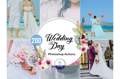 200 Wedding Day Photoshop Actions