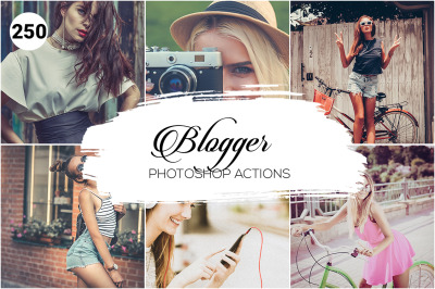 250 Blogger Photoshop Actions