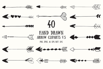 30+ Hand Drawn Arrows Cliparts Ver. 5