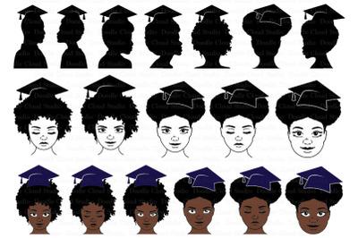 Graduation SVG, Afro Girls and Boys SVG, Laurea,  Graduation Clipart.