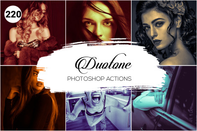 220 Duotone Photoshop Actions
