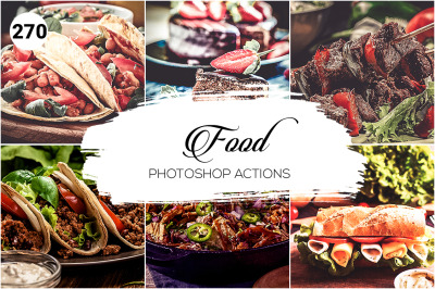 270 Food Collection Photoshop Actions