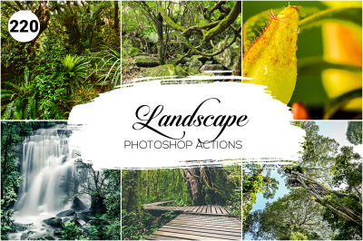 220 Landscape Photoshop Actions