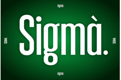 Sigma Display Font
