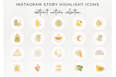 20 Instagram story highlight icons - abstract nature collection