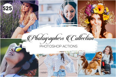 525 Photographer Collection Photoshop Actions