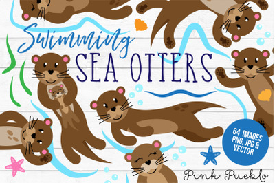 Otter Clipart and Vectors