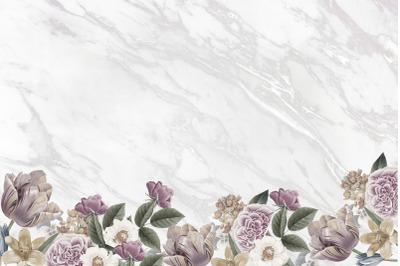 Christmas Marble Flowers Digital Paper