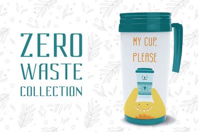 Zero Waste Ecology Doodle Set