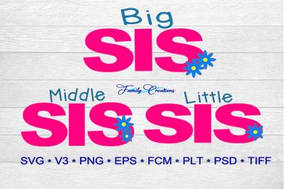 Big Sis, Middle Sis & Little Sis