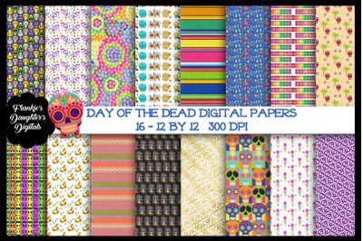 Day of the Dead Digital Paper Bundle