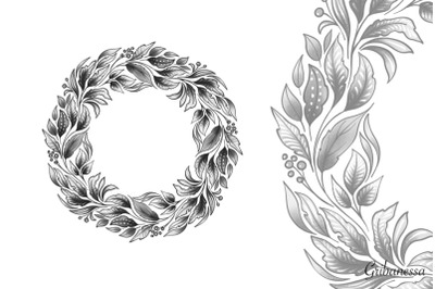 Monochrome wreath