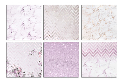 Christmas Rose Marble Textures