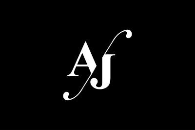 AJ Monogram Logo design