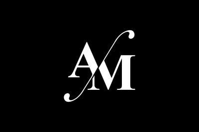 AM Monogram Logo design