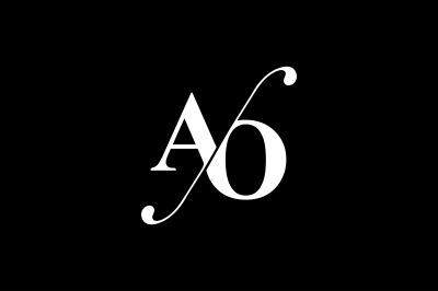 AO Monogram Logo design