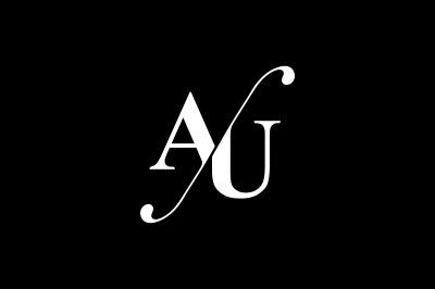 AU Monogram Logo design