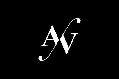 AV Monogram Logo design