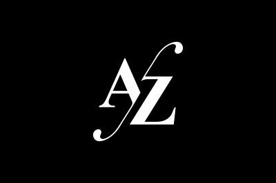 AZ Monogram Logo design