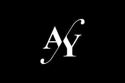 AY Monogram Logo design