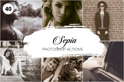 40 Sepia Photoshop Actions