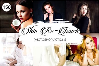 150 Skin Retouch Photoshop Actions