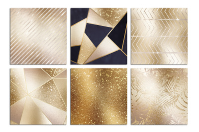 Christmas Gold Foil Textures