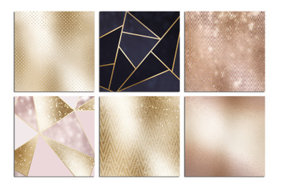 Christmas Rose Gold Foil Textures