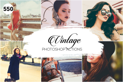 550 Vintage Photoshop Actions