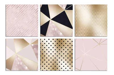 Christmas Rose Gold Textures