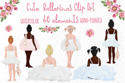 Cute Ballerina Clipart, Ballet dance, Best Friends clipart