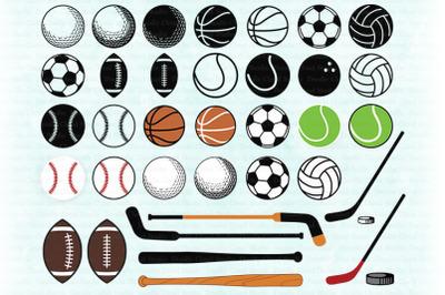 Sport SVG, Sport Ball SVG,  Sport Balls Clipart