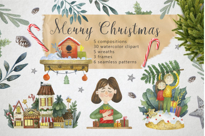Merry Christmas - Watercolor Set