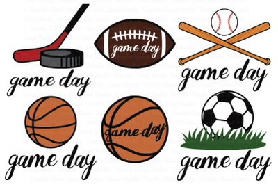 Game Day SVG, Sport Ball SVG,   Game Day Clipart