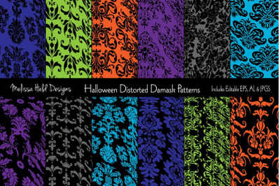Halloween Distorted Damask Patterns