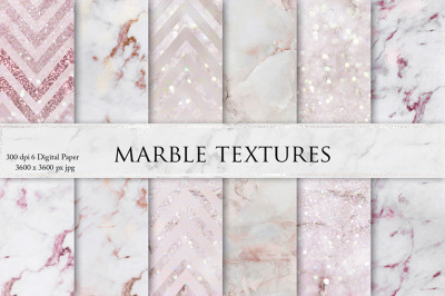 Rose Marble Digital Paper
