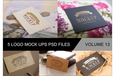 Photo Realistic Mock-ups Set of 5 V13